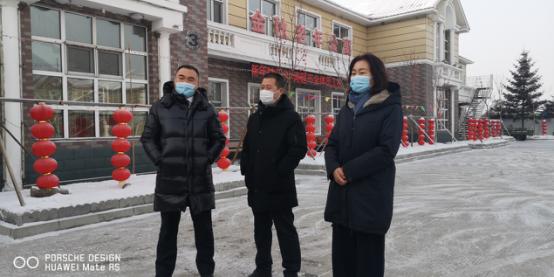 巴彦县工商联携会员企业慰问金秋老年公寓老人